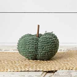 Sage Green Chenille Pumpkin