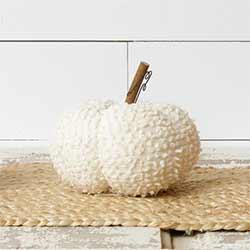 Ivory Chenille Pumpkin