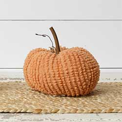 Orange Chenille Pumpkin