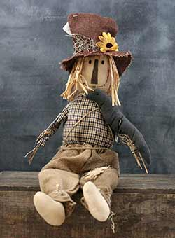 Scarecrow with Sitting Crow