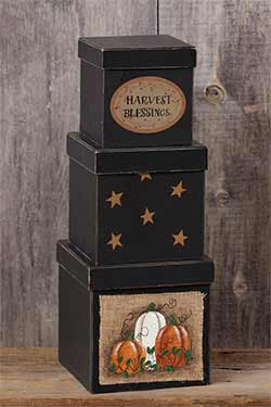 Harvest Blessings Stacking Boxes (Set of 3)