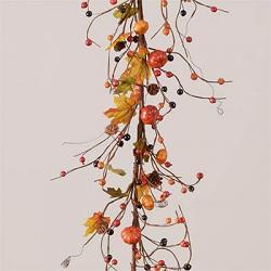 Pumpkins, Pine Cones & Autumn Berries Garland