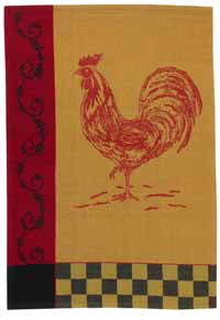 Countryside Rooster Jacquard Dishtowel