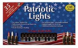 Patriotic String Lights - 35 count