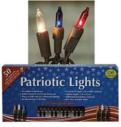 Patriotic String Lights - 50 count
