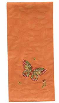 Butterfly Dishtowel - Orange