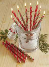 Candy Cane Party Taper (Set of 6)