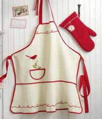 TAG Cardinal & Sprig Apron or Oven Mitt