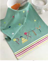 Party Vintage Dishtowel