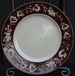 Fall Flora Plate - Brown