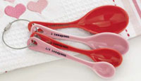 Pink and Red Measuring Spoons