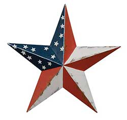 Patriotic Barn Star, 3.5 inch