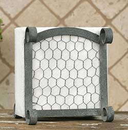 Chicken Wire Napkin Caddy
