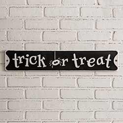 Trick or Treat Tin Sign