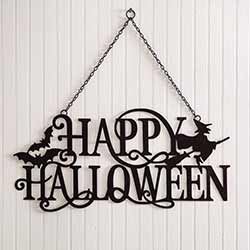 Happy Halloween Metal Cutout Sign