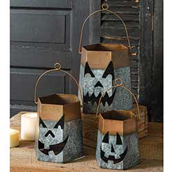 Jack O'Lantern Luminaries (Set of 3)