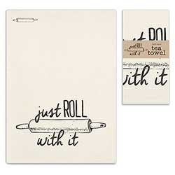Just Roll With it Tea Towel