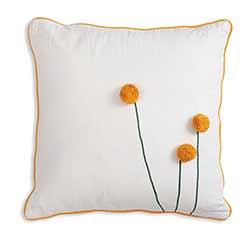 Sun Ball Flower Throw Pillow