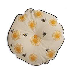 Bees & Sunflowers Round Pillow