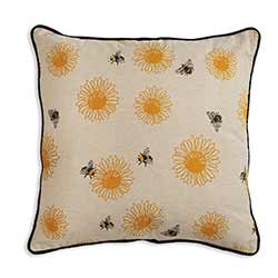 Bees & Sunflowers Throw Pillow