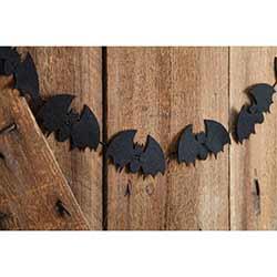 Felt Bats Garland