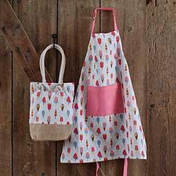 Ice Cream Child Apron & Market Bag Set