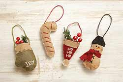 Mini Felt Christmas Ornaments (Set of 4)