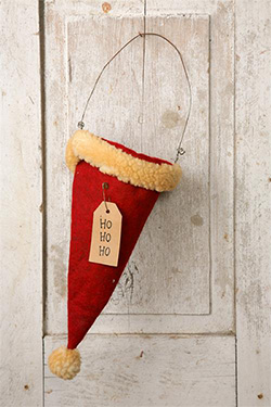 Ho Ho Ho Santa Hat Ornament