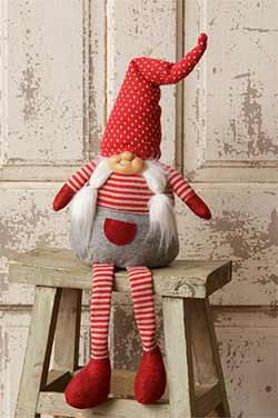 Red Sitting Gnome Doll