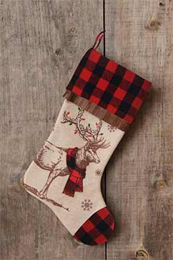 Buffalo Check Reindeer Stocking