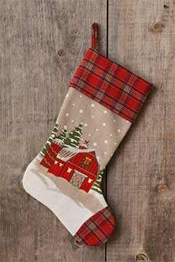 Farmhouse Barn LED Stocking