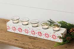 Fair Isle Christmas Votive Holder