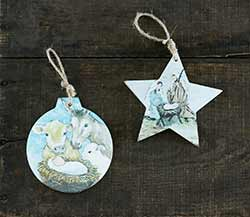 Nativity Ornaments (Set of 2)