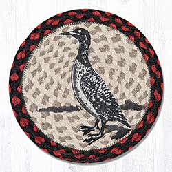 Loon Braided Tablemat - Round (10 inch)