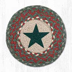 Green Star Braided Tablemat - Round (10 inch)