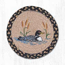 Loon Cattail Braided Tablemat - Round (10 inch)