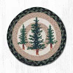 Tall Timbers Braided Tablemat - Round (10 inch)