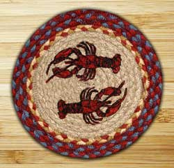 Lobster Braided Tablemat - Round (10 inch)