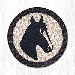 Horse Portrait Braided Tablemat - Round (10 inch)