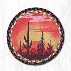 Desert Sunset Braided Tablemat - Round (10 inch)