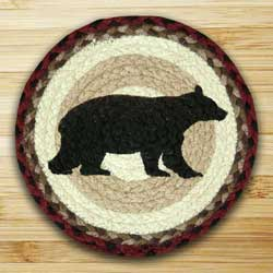 Cabin Bear Braided Tablemat - Round (10 inch)