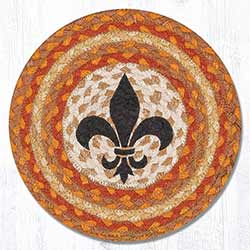 Fleur de Lis Braided Tablemat - Round (10 inch)