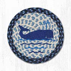 Whale Braided Tablemat - Round (10 inch)
