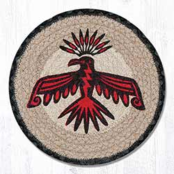 Thunderbird Braided Tablemat - Round (10 inch)