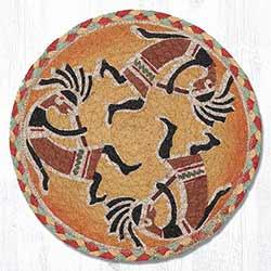 Kokopelli Braided Tablemat - Round (10 inch)