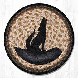 Coyote Silhouette Braided Tablemat - Round (10 inch)
