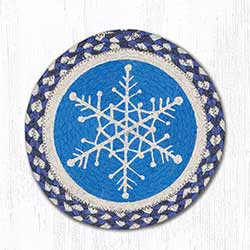 Snowflake Braided Tablemat - Round (10 inch)