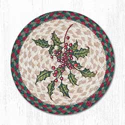Holly Braided Tablemat - Round (10 inch)