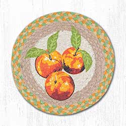 Peaches Braided Tablemat - Round (10 inch)