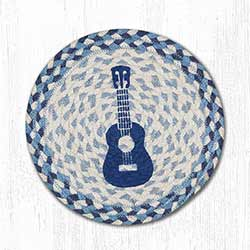 Ukulele Braided Tablemat - Round (10 inch)
